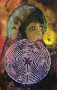 February 5 x 7 Shaman Woman II Acrylic Canvas