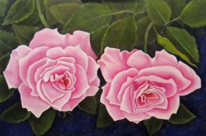 Pink Roses - redone 24 x 36