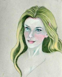 J 3 #2 14x11 Fairy with Green Hair