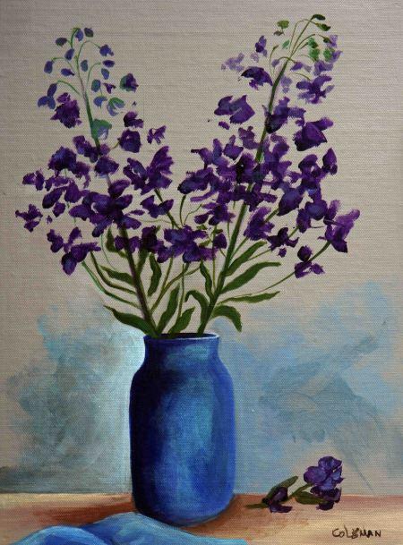 #23 Lavender in Blue Vase September, 2018